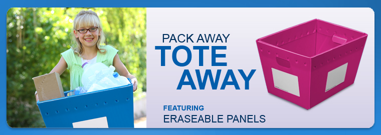 Pack Away Tote Away - Erasable End Panel